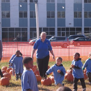 Preschoolers at Pumpkin Patch